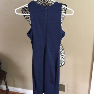 Sequin Hearts Dresses - Navy Blue Semi-Formal Dress